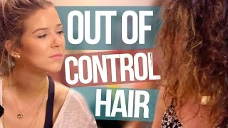 How to Straighten OUT OF CONTROL Frizzy Hair