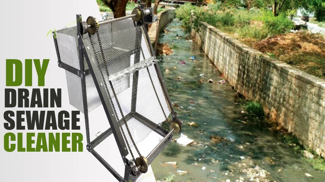 How To Make Automated Drain Sewage Cleaner Project DIY Mechanical Project
