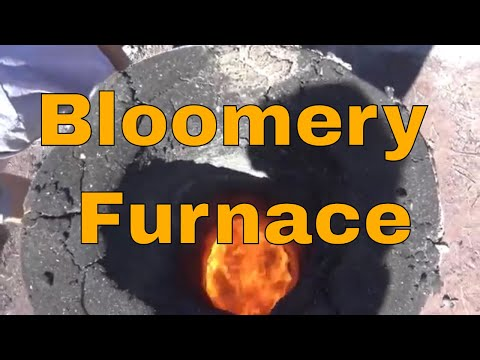 Preparing a bloomery furnace for an iron smelt
