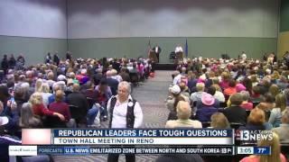 Nevada senator, congressman host Reno town hall