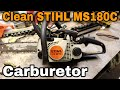 How To Clean The Carburetor On A Stihl Chainsaw (MS180C) with Taryl