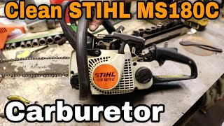 how-to-clean-the-carburetor-on-a-stihl-chainsaw-ms180c-with-taryl