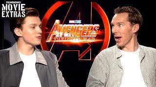 AVENGERS: INFINITY WAR   Benedict Cumberbatch & Tom Holland talk about the movie