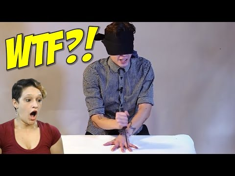 The BLINDFOLDED Knife Game Song Reaction