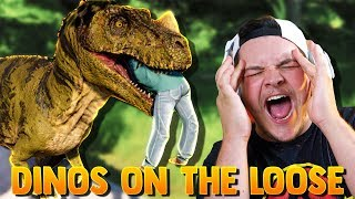 BOYS THESE HUNGRY DINOSAURS GOT LOOSE!!!  | Jurassic World Evolution #3