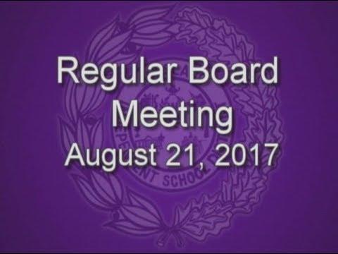 Weslaco ISD School Board - Regular Board Meeting 8-21-17