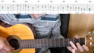 Постой, паровоз - мелодия на гитаре + табы