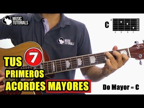 Aprende Tus Primeros 7 Acordes MAYORES en Guitarra