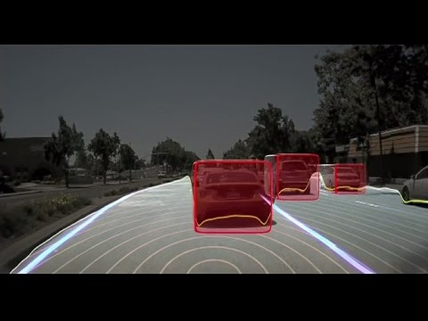 NVIDIA Drive PX2 self-driving car platform visualized