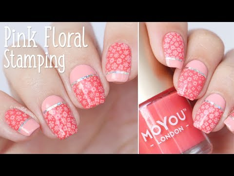 "Pink Floral Stamping || using MoYou ""Trend Hunter 06"" plate"