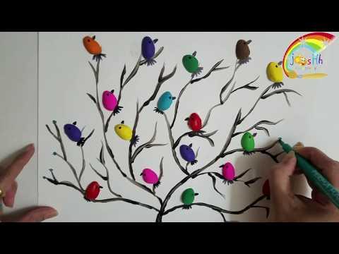 Pista Shell Painting - Birds