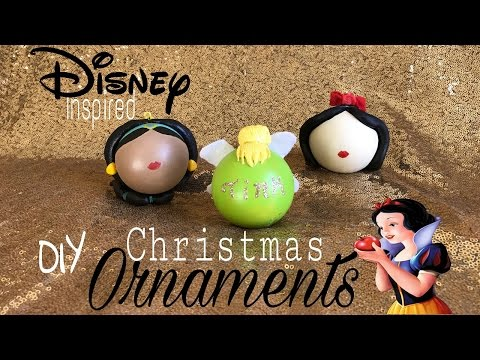 DIY Disney Christmas Ornaments - Princess Edition |Dollar Tree