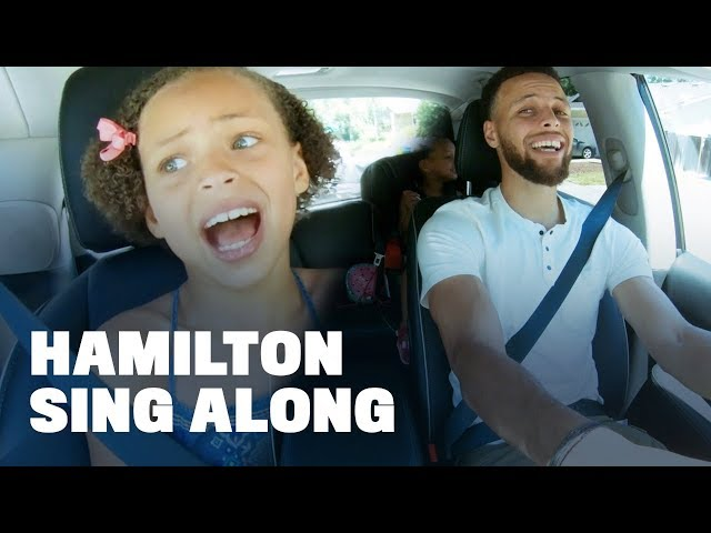 "Stephen Curry Belts Out ""Hamilton"" with Daughters Riley and Ryan"
