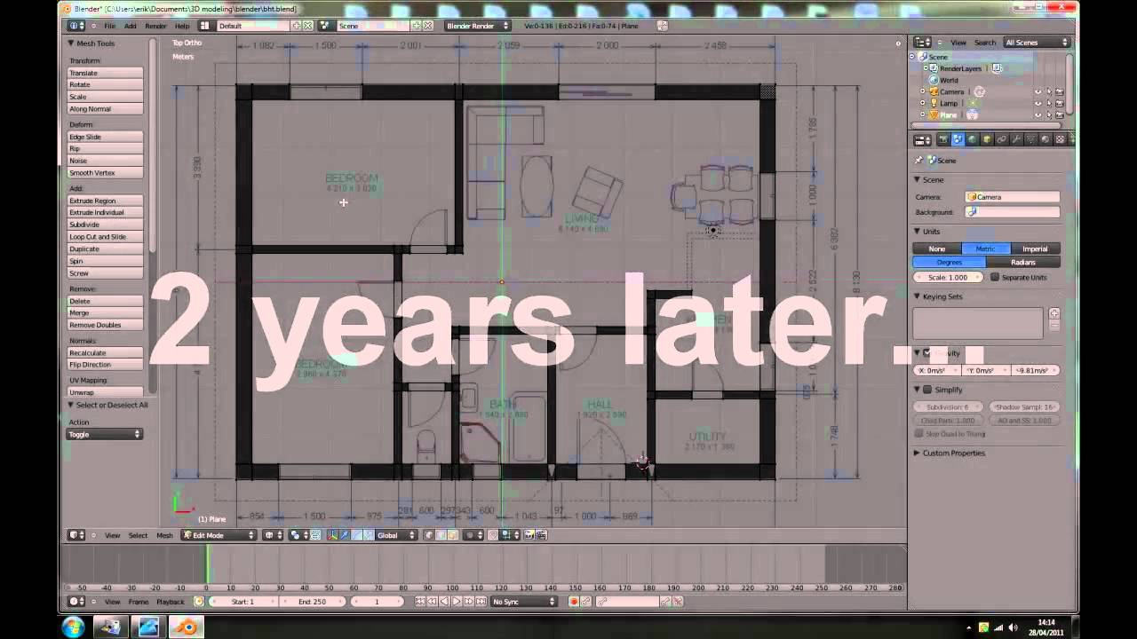 Blender tutorial making a house part 1 youtube - Make your house a home ...