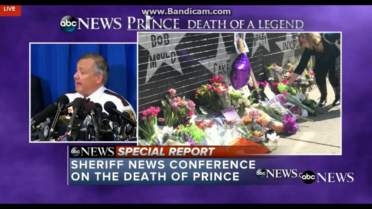 Prince Sheriff News Press conference - How Did Prince Die ... - photo#31