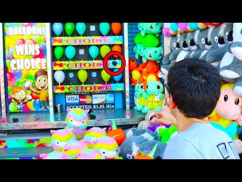 I Never Won These Impossible Carnival Games - UNTIL NOW!