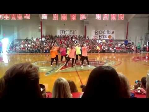 Central Private School Dixie Darlings, 80s Pep Rally featuring Coach Michelle Yawn! 8/22/2014