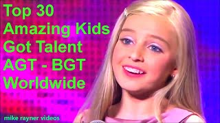 Top 30 Amazing Kids Got Talent Auditions of All Time! Best Singing Dancing Magic AGT - BGT Worldwide