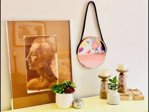 How to Make a Leather Strap Hanging Mirror