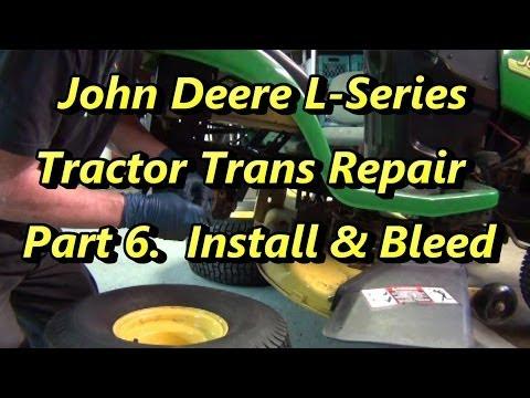 Part 6 John Deere Trans Repair Install in Tractor and Bleed Air