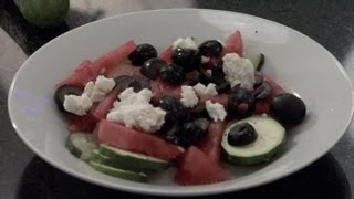 Watermelon, English Cucumbers, Olives & Feta Salad : Cucumber Salad Ideas