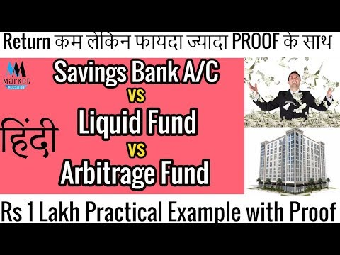 Saving Bank Account vs Liquid Fund vs Arbitrage Fund | Practical Example | Explained in hindi