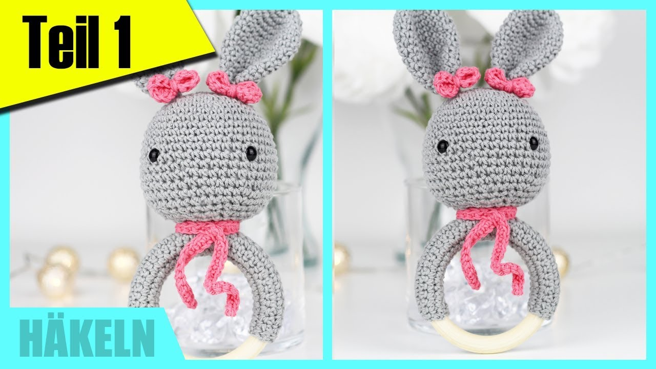 Häkeln für Anfänger: Greifring/Beißring für Babys TEIL 1 »Lalalunia ...
