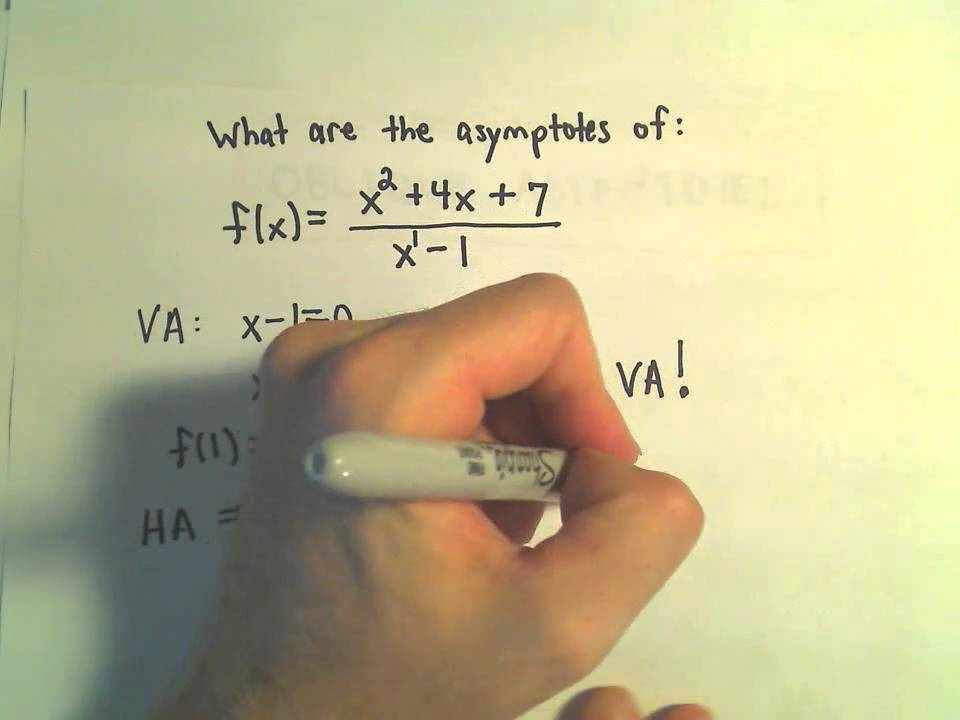 Find asymptotes of a rational function vertical horizontal and find asymptotes of a rational function vertical horizontal and obliqueslant ex 1 youtube ccuart Choice Image