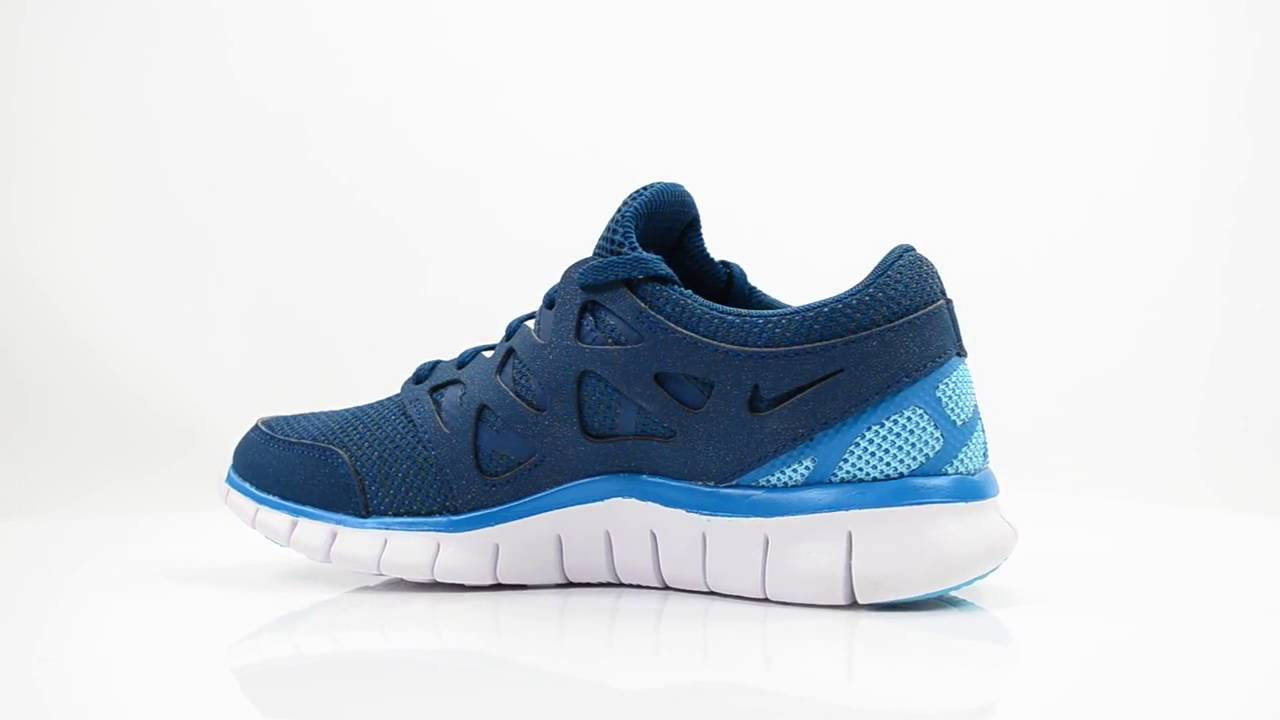 NIKE FREE RUN 2 BLUE LEATHER TEXTILE DAMES SNEAKERS - YouTube