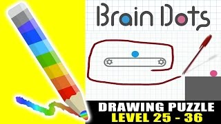 Brain Dots - Draw and Solve : Level 25-36 ios Gameplay