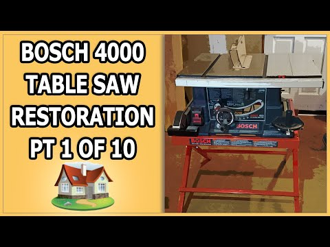 Bosch 4000 Table Saw Restoration 1 of 10 - YouTube
