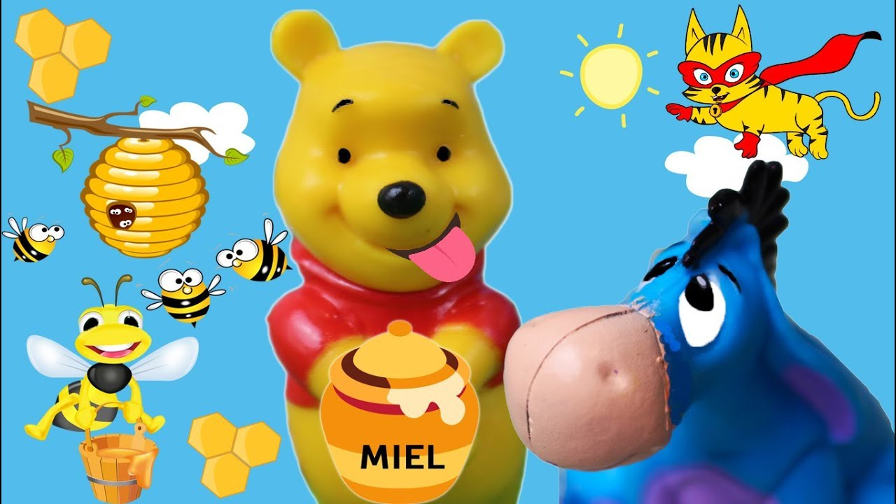 Atractivo Pooh Oso Con Miel Para Colorear Motivo - Enmarcado Para ...