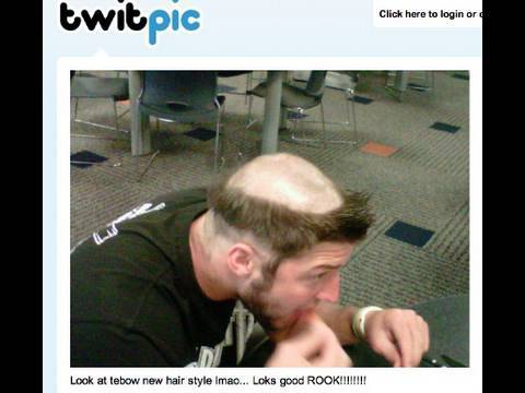 Tim Tebow:  Denver Broncos Rookie QB has Hillbilly Haircut