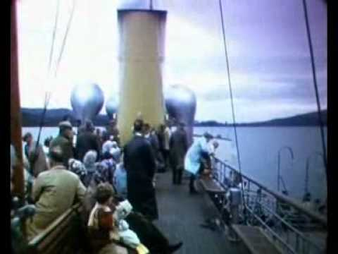 PADDLE STEAMERS JEANIE DEAN & MAID OF THE LOCH IN SCOTLAND (16mm reel, c1960)