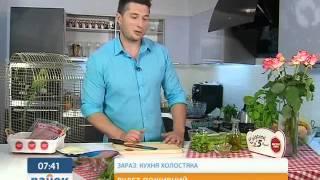 Вкусный и полезный рулет из салями на завтрак