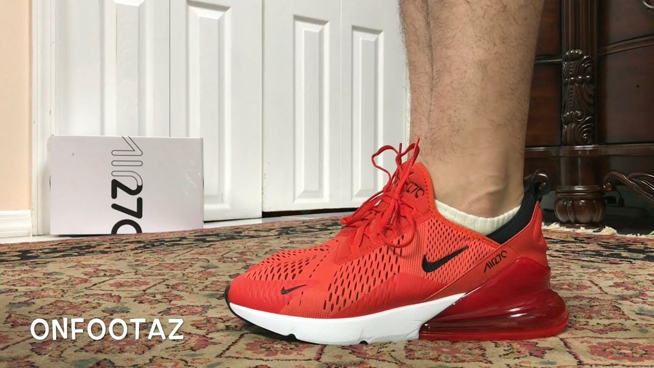 Nike Air Max 270 Habanero Red On Foot - YouTube 01b9eac48