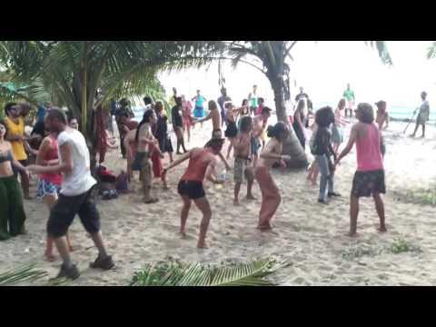 Goa  party by russians(arambol beach)