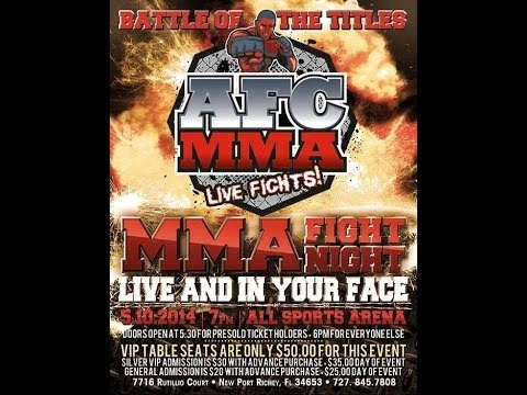 AFC MMA: Doug Moore vs Anthony George