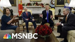 President Trump Threatens Shutdown In Meeting With Pelosi, Schumer | Andrea Mitchell | MSNBC