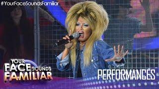 """Your Face Sounds Familiar: KZ Tandingan as Tina Turner - """"What"""