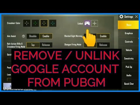 REMOVE / UNLINK GOOGLE ACCOUNT FROM PUBGM