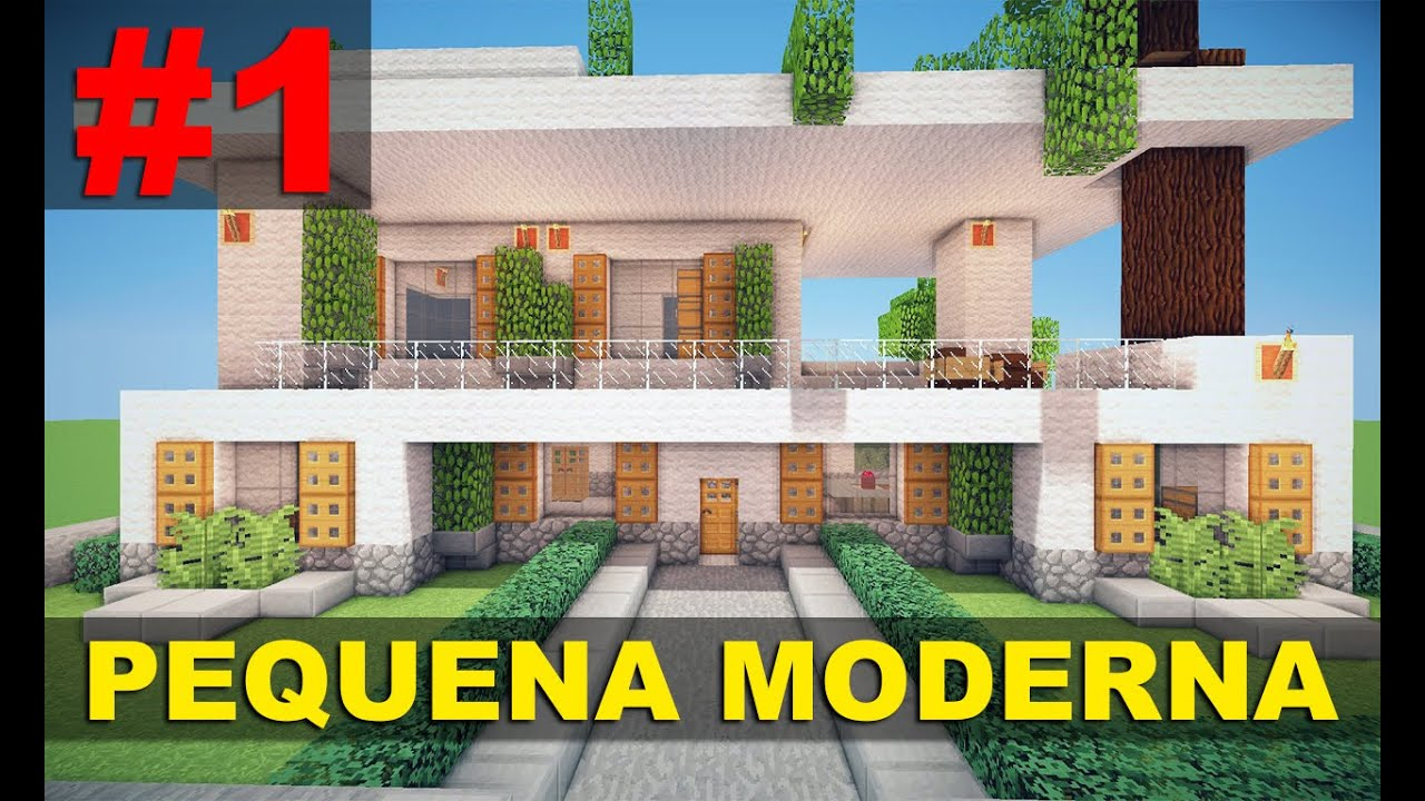 Minecraft tutorial pequena casa moderna 1 parte 1 for Casa moderna e accogliente