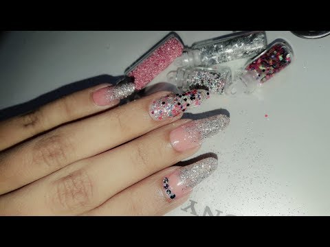 Latest Nail Art Pink and Silver!!Glitter work!!Advance Tutorial 2018