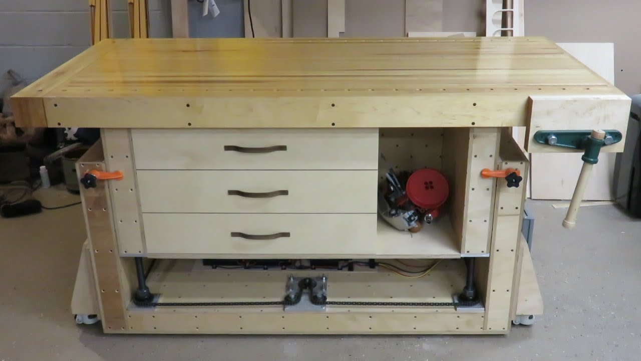 The Ultimate Modern Woodworking Workbench - YouTube