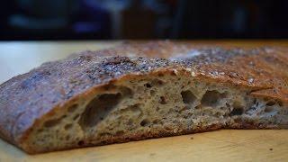 No Knead Chia-batta Bread