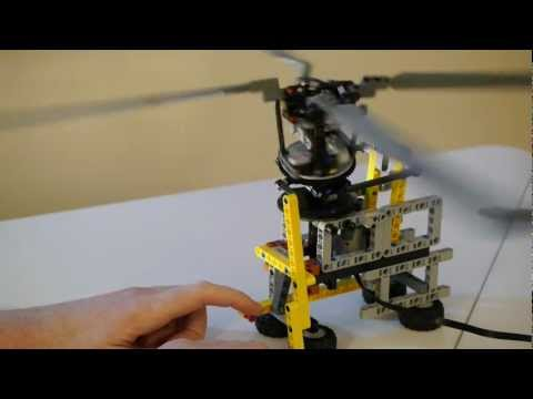 Cyclic rotor pitch control using Lego Technic