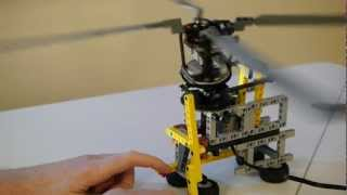 Cyclic rotor pitch control using Lego Technic