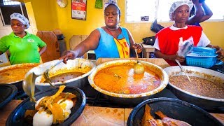 First Time Trying GHANAIAN FOOD!! Amazing Palm Nut Soup in Accra, Ghana, West Africa! thumbnail