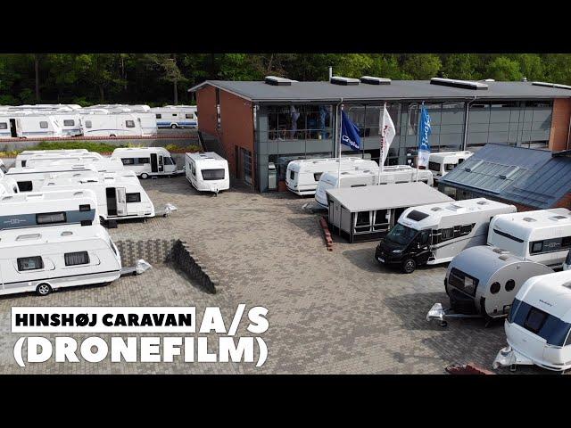 Hinshøj Caravan a/s set fra luften (Dronefilm)