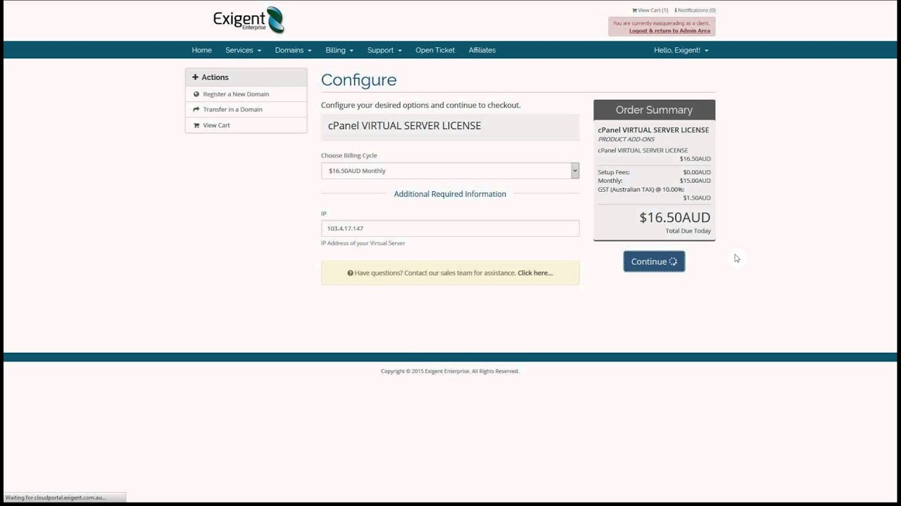 How to order VPS cPanel License
